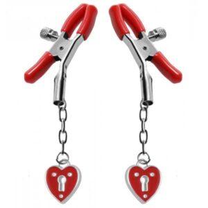 brystklemmer med hjerter
